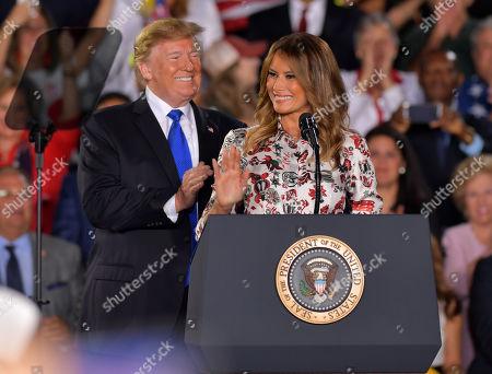 Stock Photo of Donald Trump and Melania Trump