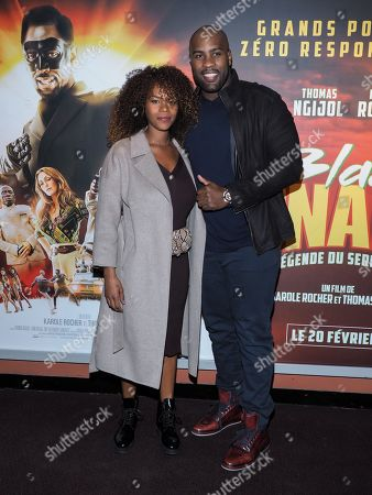 Stock Image of Teddy Riner and his wife Luthna Plocus