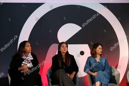 Claudia Contreras (Marketing Director IM and CMO, Samsung Electronics Mexico), Daniela Zamudio (Marketing and Communications, Tiffany & Co.) and Alejandra Espinoza (Senior Marketing Manager, Clinique)