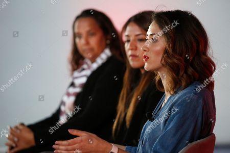 Stock Photo of Claudia Contreras (Marketing Director IM and CMO, Samsung Electronics Mexico), Daniela Zamudio (Marketing and Communications, Tiffany & Co.) and Alejandra Espinoza (Senior Marketing Manager, Clinique)