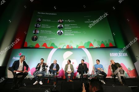 Oscar Uriel (Film Critic/ TV Presenter/ Film and Theatre Producer), Billy Rovzar (Producer, Writer, Entrepreneur, Content Creator, Lemon Studios), Sergio Pizzolante (Film & TV Executive Producer & Agent), Pablo Cruz (Executive Producer, Owner, Canana), Manolo Cardona (Actor & Producer), Diego Boneta (Actor, Singer & Producer) and Guillermo Gimenez y Brotons (Integrated Marketing Communications Director, Coca-Cola)