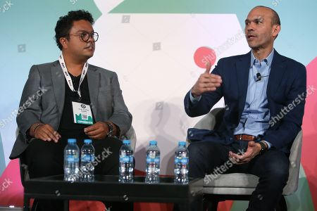 Stock Image of Juan Carlos Valdes (Country Manager - Mexico, Colombia & Argentina, Taboola) and Armando Rodriguez (Vice President and Managing Director, Latin America and U.S. Hispanic, Verizon Media)