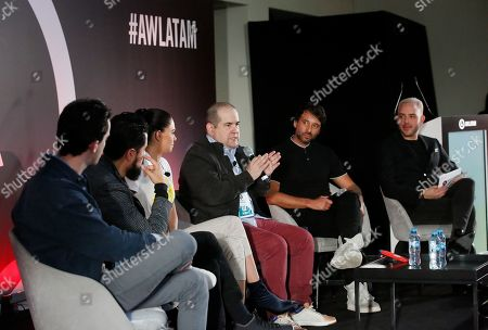 Jimmy Sirvent (Host), Diego Ortiz (Director & Executive, Rolling Stone Latin America Magazine), Livia Brito (Actress), Sergio Pizzolante (Film & TV Executive Producer & Agent), Cory Crespo (President & Co-Founder, COLOURs & CMX Management Mexico) and Pei Garza (Radio Host)