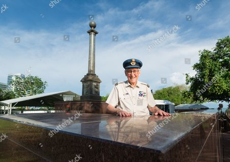 World War II Veteran Brian Winspear, who was a 21 year old Wireless Operator/Gunner with the RAAF during the 1942 Bombing of Darwin, poses for a photograph ahead of the 77th Anniversary of the Bombing of Darwin special commemorative service in Darwin, Northern Territory, Australia, 19 February 2019. The Bombing of Darwin, a large attack mounted by multiple Japanese bombing raids on Australian soil, took place on 19 February 1942 during World War Two (WWII).