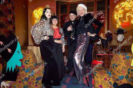 Stock Picture of Adele Mildred, Gabrielle Djanogly, Sascha Lilic, Ellen Von Unwerth
