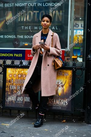 Model naomi Chin WIng Day 4 of London Fashion Week, FW19