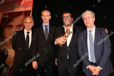 Stock Image of Alain Terzian, Franck Riester, Alain Attal, Guest