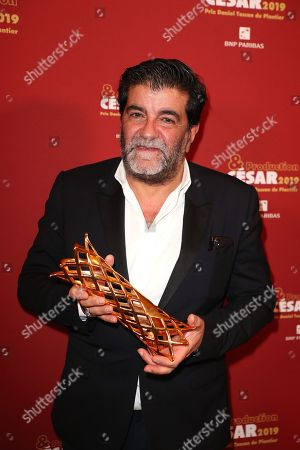 Alain Attal poses with the Daniel Tuscan du Plantier prize