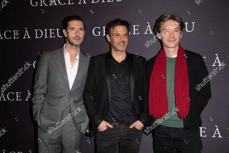 (L-R) Melvil Poupaud, director Francois Ozon and Swann Arlaud