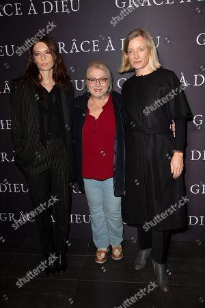 L-R) Amelie Daure, Josiane Balasko and Aurélia Petit