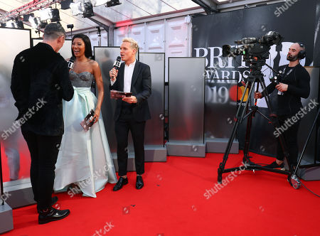 Stock Picture of Yasmin Evans and Jamie Laing