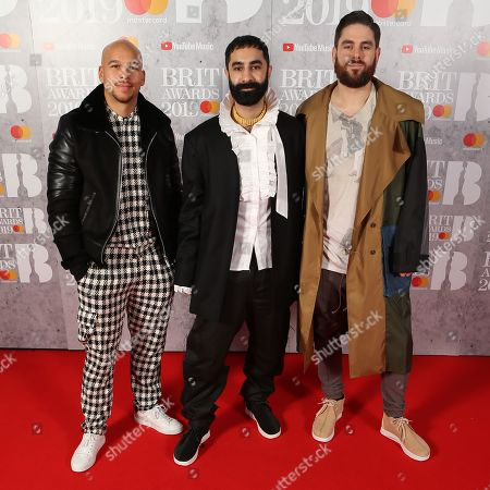 Kesi Dryden, Amir Amor and Piers Agget of Rudimental