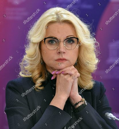 Deputy Prime Minister of Russia Tatyana Golikova during the meeting.