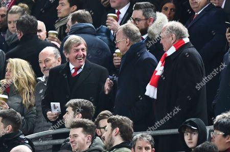 Kenny Dalglish meets Bayern Chairman Uli Hoeness, right, and Karl-Heinz Rummenigge