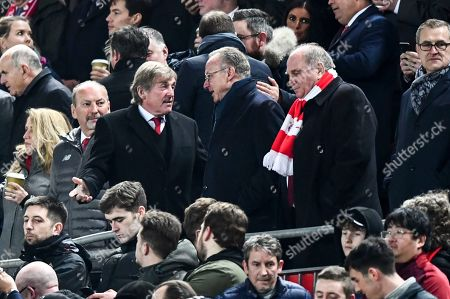 Kenny Dalglish meets Bayern Munich Chief Executive Karl-Heinz Rummenigge, centre, and Chairman Uli Hoeness