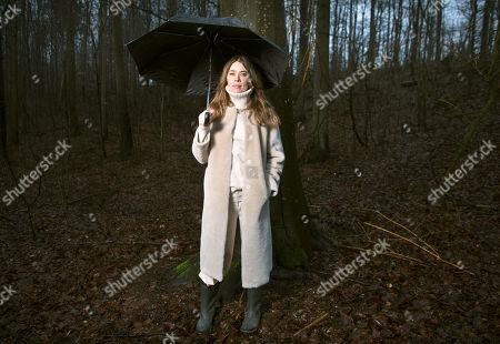 Editorial photo of Birgitte Hjort portrait session, North Zealand, Denmark - 05 Apr 2018