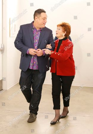 """Michael Levitt, Marion Ross. Michael Levitt, left, and Marion Ross participate in the Television Academy member event """"Staying at the Table: A Conversation with Henry Winkler """" at the Saban Media Center at the Television Academy on in North Hollywood, Calif"""