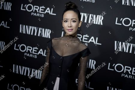 Fiona Xie attends the Vanity Fair and L'Oreal Paris' New Hollywood Party at Ysabel, in West Hollywood, Calif