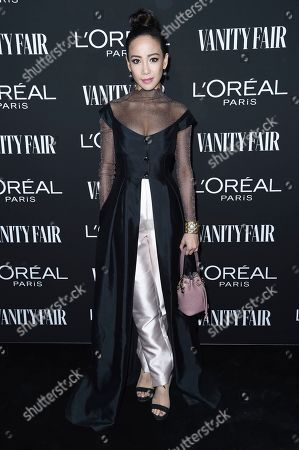 Fiona Xie attends the Vanity Fair and L'Oreal Paris' New Hollywood Party at Ysabel on Tuesday, Feb.19, 2019, in West Hollywood, Calif