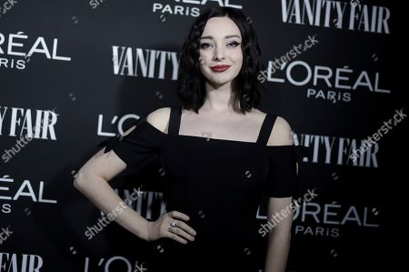Emma Dumont attends the Vanity Fair and L'Oreal Paris' New Hollywood Party at Ysabel on Tuesday, Feb.19, 2019, in West Hollywood, Calif