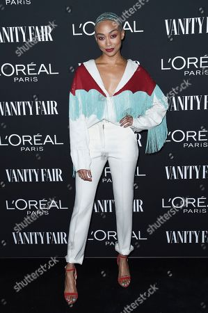 Tati Gabrielle attends the Vanity Fair and L'Oreal Paris' New Hollywood Party at Ysabel on Tuesday, Feb.19, 2019, in West Hollywood, Calif