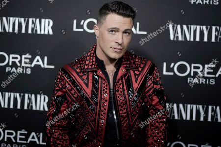 Colton Haynes attends the Vanity Fair and L'Oreal Paris' New Hollywood Party at Ysabel on Tuesday, Feb.19, 2019, in West Hollywood, Calif