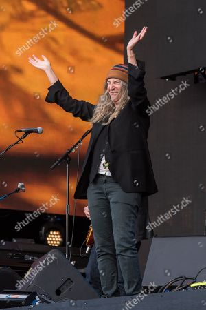 Stock Image of Patti Smith performs live on the first day of British Summer Time 2016 in Hyde Park, London, in support to Massive Attack.
