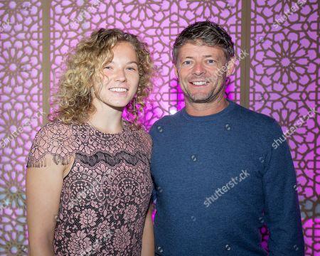 Katerina Siniakova and Training coach Ian Hughes