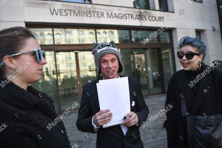 Lauri Love holding the ruling talks to media outside Westminster Magistrates court. Mr Love, who previously won an extradition case to face hacking charges in US, recently launched a civil case to recover materials seized by National Crime Agency (NCA) agents at point of arrest over 5 years ago. Today the Judge ruled in favour of the NCA on the basis that the encrypted data on the two computers and drives was not his property. Mr Love sought clarification as to how this assessment had been arrived at, but none was forthcoming.