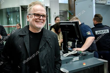 German musician Herbert Groenemeyer arrives at the Regional Court in Cologne, Germany, 20 February 2019. Two photographers are on trial after taking pictures and filming the singer and his family against his will and accusing Groenemeyer of an assault.