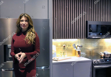 Samsung partners with Netflix's 'Stay Here' host and interior designer Genevieve Gorder to introduce the new Tuscan Stainless Appliances at the Kitchen and Bath Industry Show (KBIS) 2019 at the Las Vegas Convention Center on