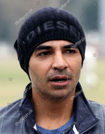 Pakistani Test cricketer Salman Butt talks with reporters in Lahore, Pakistan, . Butt hopes to make a comeback into the national team after the left-handed opening batsman replaced injured Mohammad Hafeez in the Pakistan Super League