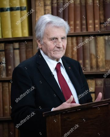 Editorial picture of Jean-Claude Trichet at the Oxford Union, UK - 05 Feb 2019