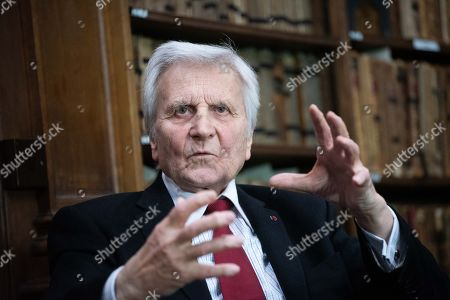 Editorial photo of Jean-Claude Trichet at the Oxford Union, UK - 05 Feb 2019