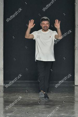 Alberto Zambelli on the catwalk