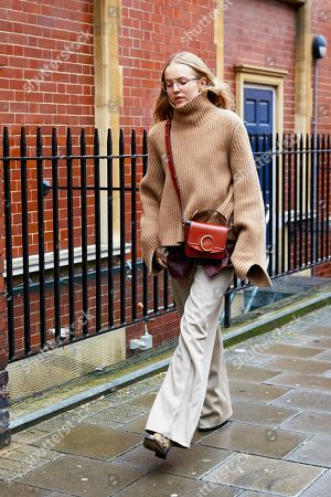 Editorial picture of Street Style, Fall Winter 2019, London Fashion Week, UK - 18 Feb 2019