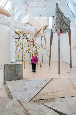 Editorial photo of 'cul-de-sac' exhibition by Phyllida Barlow at the Royal Academy of Arts, London, UK - 20 Feb 2019