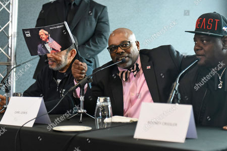 Carl Lewis during a Press Conference at Intercontinental at The O2 on 20th February 2019