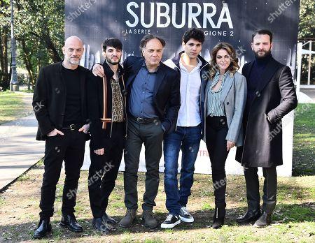 Filippo Nigro, Giacomo Ferrara, Francesco Acquaroli, Eduardo Valdarnini, Claudia Gerini, Alessandro Borghi