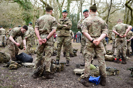 Prince Harry, Captain General Royal Marines, visits 42 Commando Royal Marines at their base in Bickleigh to carry out a Green Beret presentation at Dartmoor National Park