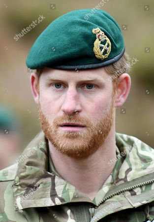 Prince Harry, Duke of Sussex, Captain General Royal Marines, visits 42 Commando Royal Marines at their base in Bickleigh to carry out a Green Beret presentation at Dartmoor National Park on February 20, 2019 in Plymouth, England.