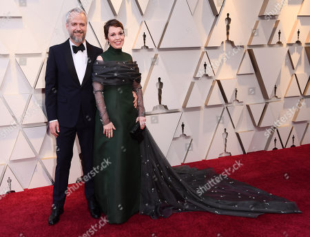 Stock Image of Olivia Colman and Ed Sinclair