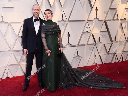 Stock Photo of Olivia Colman and Ed Sinclair