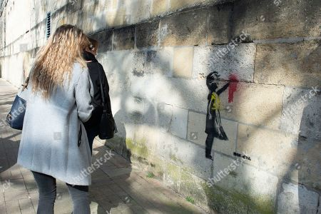 Graffiti artist Banksy artwork in Bordeaux