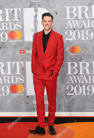 British performer Sigala arrives for the Brit Awards 2019 at the O2 Arena in Greenwich, London, Britain, 20 February 2019. It is the 39th edition of the British Phonographic Industry's annual pop music awards.