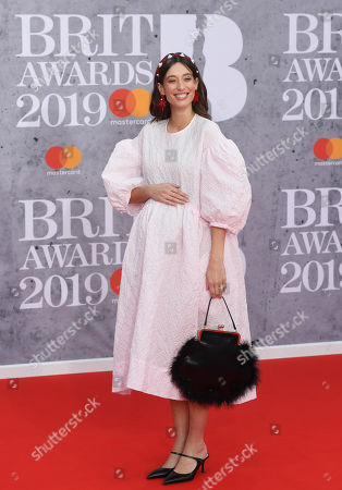 Laura Jackson arrives for the Brit Awards 2019 at the O2 Arena in Greenwich, London, Britain, 20 February 2019. It is the 39th edition of the British Phonographic Industry's annual pop music awards.