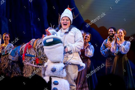 Editorial image of 'Frozen' play, New York, USA - 19 Feb 2019