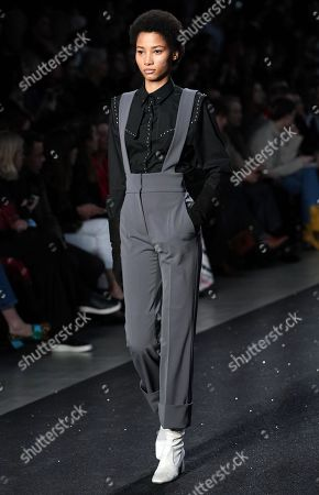 Dominican model Lineisy Montero presents a creation by Alberta Ferretti during the Milan Fashion Week, in Milan, Italy, 20 February 2019. The Fall-Winter 2019/20 Women's collections are presented at the Milano Moda Donna from 20 to 25 February 2019.