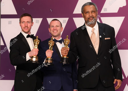 Stock Picture of Charlie Wachtel, David Rabinowitz and Kevin Willmott - Best Adapted Screenplay - 'BlacKkKlansman'