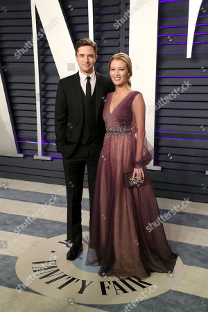 Stock Photo of Topher Grace and Ashley Hinshaw